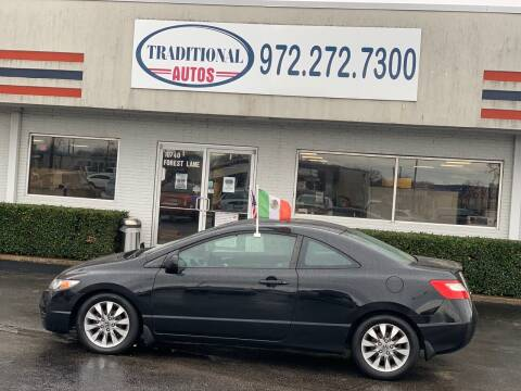 2011 Honda Civic for sale at Traditional Autos in Dallas TX