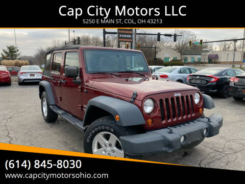 2010 Jeep Wrangler Unlimited for sale at Cap City Motors LLC in Columbus OH