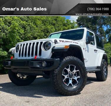 2019 Jeep Wrangler for sale at Omar's Auto Sales in Martinez GA