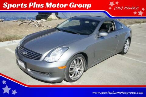 2006 Infiniti G35 for sale at Sports Plus Motor Group LLC in Sunnyvale CA