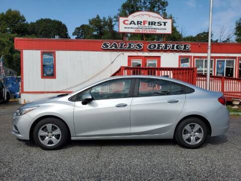 2017 Chevrolet Cruze for sale at CARFIRST ABERDEEN in Aberdeen MD