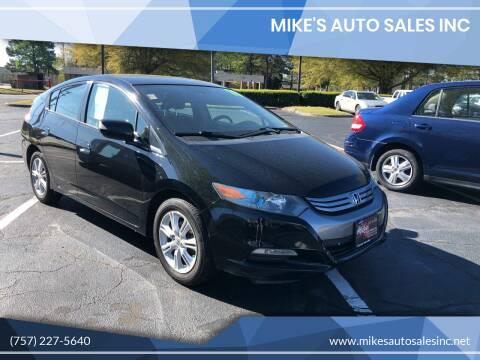 2010 Honda Insight for sale at Mike's Auto Sales INC in Chesapeake VA