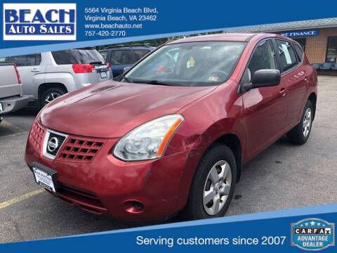 2009 Nissan Rogue for sale at Beach Auto Sales in Virginia Beach VA