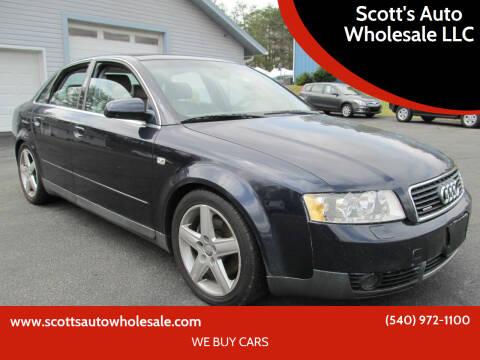 2002 Audi A4 for sale at Scott's Auto Wholesale LLC in Locust Grove VA