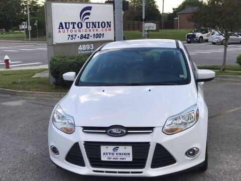 2012 Ford Focus for sale at Auto Union LLC in Virginia Beach VA