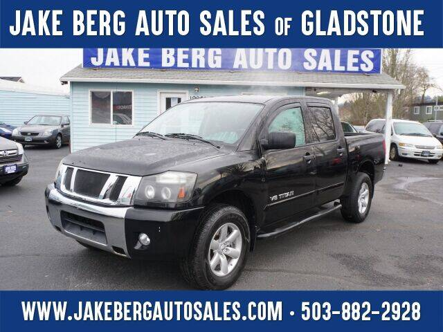 2010 Nissan Titan for sale at Jake Berg Auto Sales in Gladstone OR