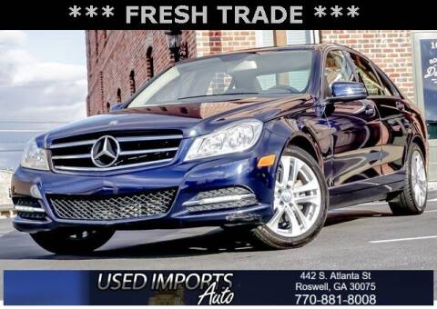 2013 Mercedes-Benz C-Class for sale at Used Imports Auto in Roswell GA