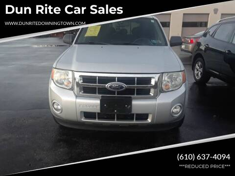 2009 Ford Escape for sale at Dun Rite Car Sales in Downingtown PA