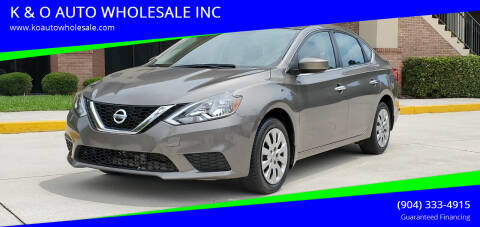2016 Nissan Sentra for sale at K & O AUTO WHOLESALE INC in Jacksonville FL