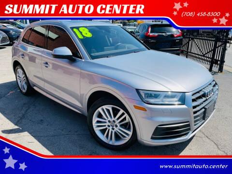 2018 Audi Q5 for sale at SUMMIT AUTO CENTER in Summit IL