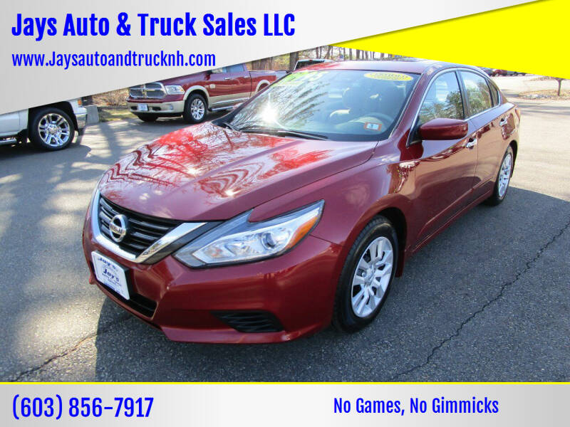 2016 Nissan Altima for sale at Jays Auto & Truck Sales LLC in Loudon NH