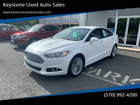 2014 Ford Fusion for sale at Keystone Used Auto Sales in Brodheadsville PA