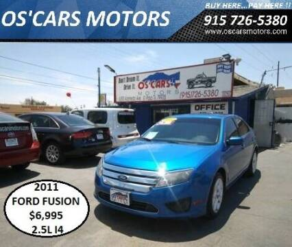 2011 Ford Fusion for sale at Os'Cars Motors in El Paso TX