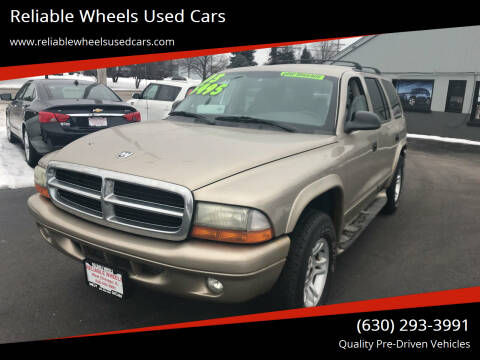 2003 Dodge Durango for sale at Reliable Wheels Used Cars in West Chicago IL