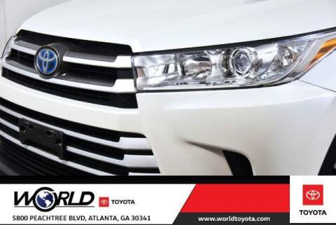 2019 Toyota Highlander Hybrid for sale at CU Carfinders in Norcross GA