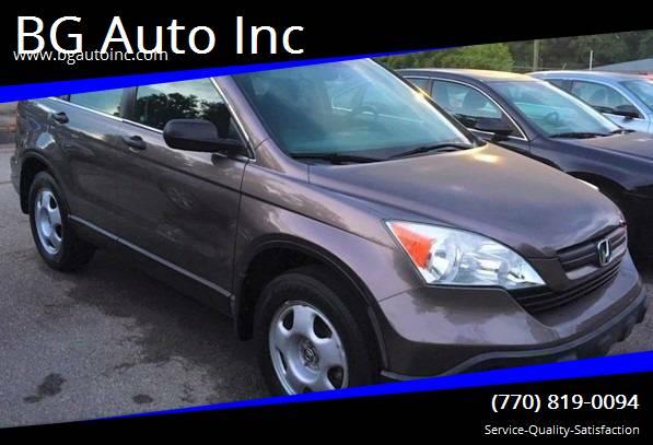 2009 Honda CR-V for sale at BG Auto Inc in Lithia Springs GA