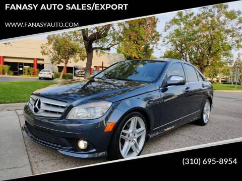 2009 Mercedes-Benz C-Class for sale at FANASY AUTO SALES/EXPORT in Yorba Linda CA