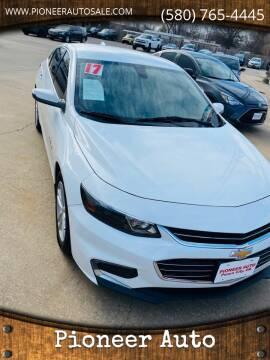 2017 Chevrolet Malibu for sale at Pioneer Auto in Ponca City OK