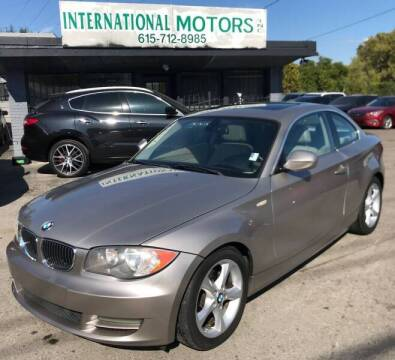 2011 BMW 1 Series for sale at International Motors Inc. in Nashville TN