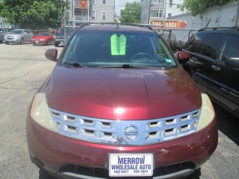 2009 Nissan Murano for sale at MERROW WHOLESALE AUTO in Manchester NH