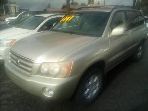 2002 Toyota Highlander for sale at Payless Car & Truck Sales in Mount Vernon WA