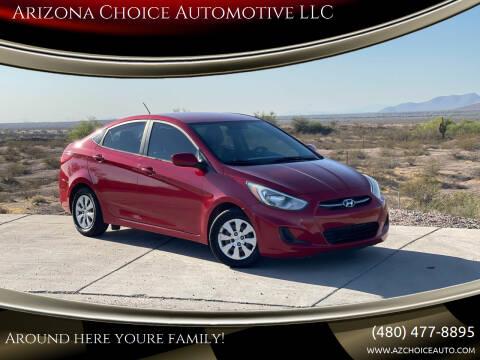 2015 Hyundai Accent for sale at Arizona Choice Automotive LLC in Mesa AZ