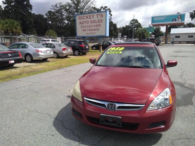 2007 Honda Accord for sale at Rickey T's Auto Sales in Garden City GA