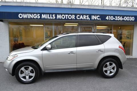 2005 Nissan Murano for sale at Owings Mills Motor Cars in Owings Mills MD