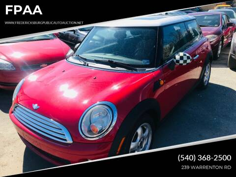 2007 MINI Cooper for sale at FPAA in Fredericksburg VA