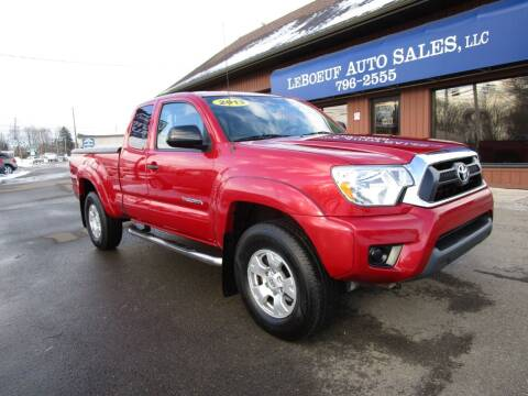 2013 Toyota Tacoma for sale at LeBoeuf Auto Sales in Waterford PA