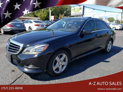 2014 Mercedes-Benz E-Class for sale at A-Z Auto Sales in Newport News VA