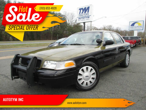 2009 Ford Crown Victoria for sale at AUTOTYM INC in Fredericksburg VA