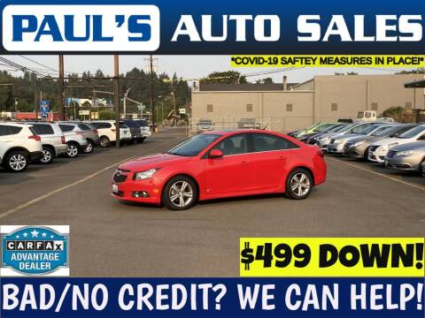 2014 Chevrolet Cruze for sale at Paul's Auto Sales in Eugene OR