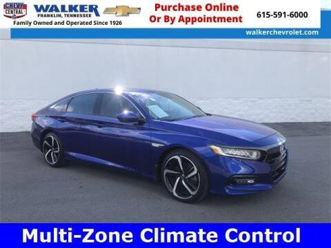 2019 Honda Accord for sale at WALKER CHEVROLET in Franklin TN