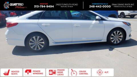 2015 Hyundai Sonata for sale at Quattro Motors 2 - 1 in Redford MI