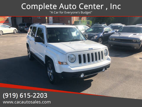 2016 Jeep Patriot for sale at Complete Auto Center , Inc in Raleigh NC