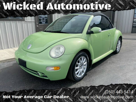 2005 Volkswagen New Beetle Convertible for sale at Wicked Automotive in Fort Wayne IN