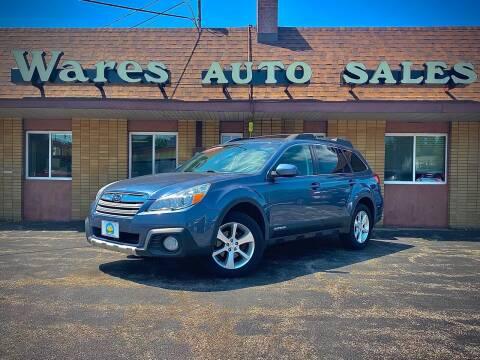 2013 Subaru Outback for sale at Wares Auto Sales INC in Traverse City MI