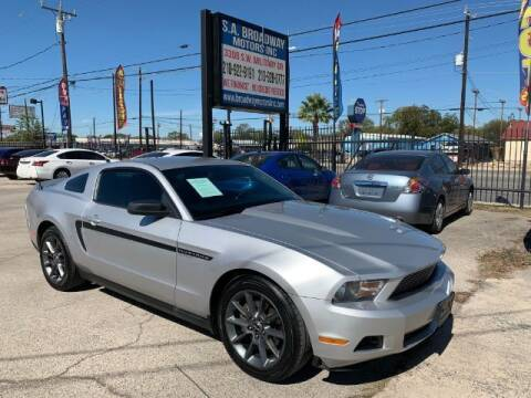 2012 Ford Mustang for sale at S.A. BROADWAY MOTORS INC in San Antonio TX