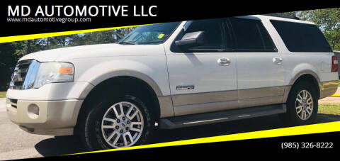 2008 Ford Expedition EL for sale at MD AUTOMOTIVE LLC in Slidell LA