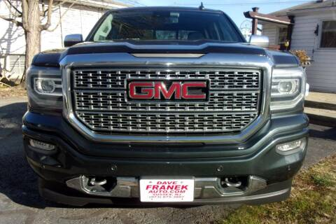 2017 GMC Sierra 1500 for sale at Dave Franek Automotive in Wantage NJ