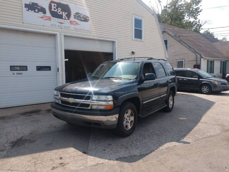 2004 Chevrolet Tahoe for sale at E & K Automotive in Derry NH