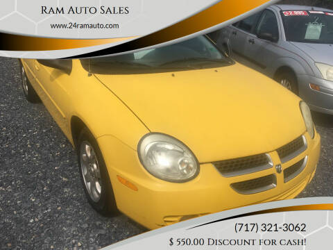 2004 Dodge Neon for sale at Ram Auto Sales in Gettysburg PA