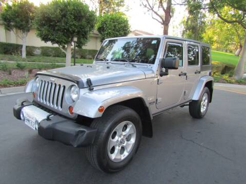 2013 Jeep Wrangler Unlimited for sale at E MOTORCARS in Fullerton CA