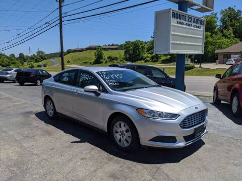 2014 Ford Fusion for sale at Route 22 Autos in Zanesville OH
