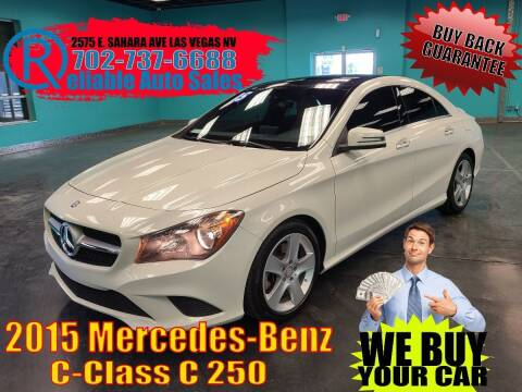 2015 Mercedes-Benz CLA for sale at Reliable Auto Sales in Las Vegas NV