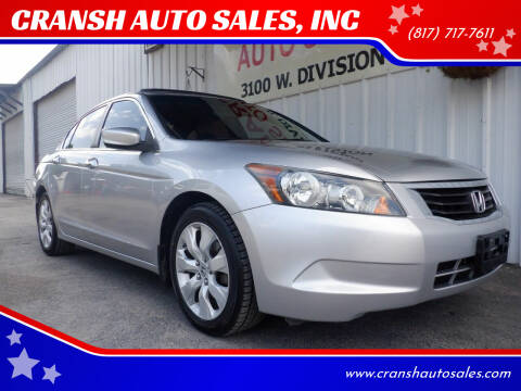 2010 Honda Accord for sale at CRANSH AUTO SALES, INC in Arlington TX