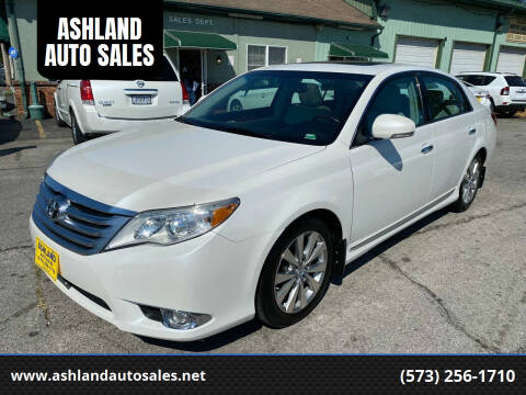 2012 Toyota Avalon for sale at ASHLAND AUTO SALES in Columbia MO