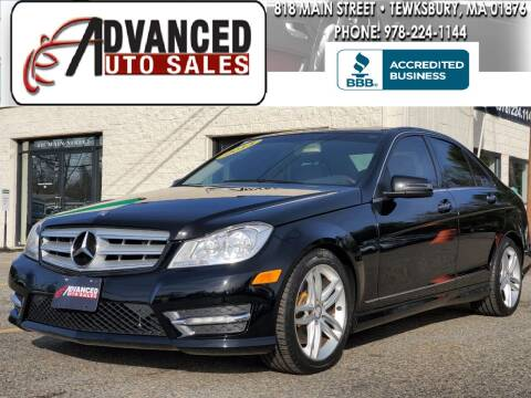 2013 Mercedes-Benz C-Class for sale at Advanced Auto Sales in Tewksbury MA