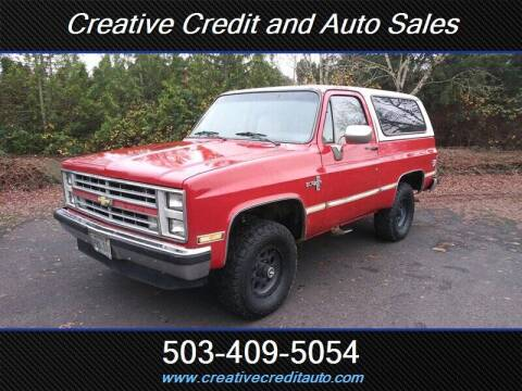 1985 Chevrolet Blazer for sale at Creative Credit & Auto Sales in Salem OR